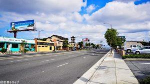 ロサンゼルス国際航空(LAX)周辺(リンカーン・ブルバード)の景色
