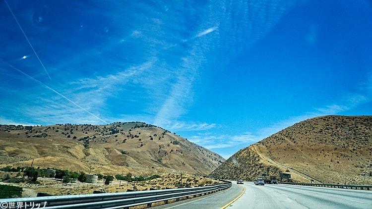 カリフォルニア州レベク(Lebec)周辺