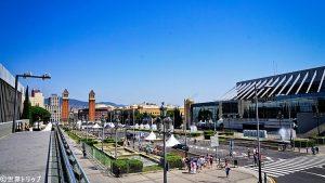 カタルーニャ美術館付近