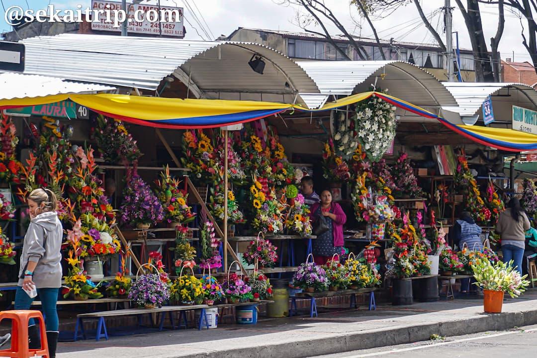 ボゴタの花屋街の一角
