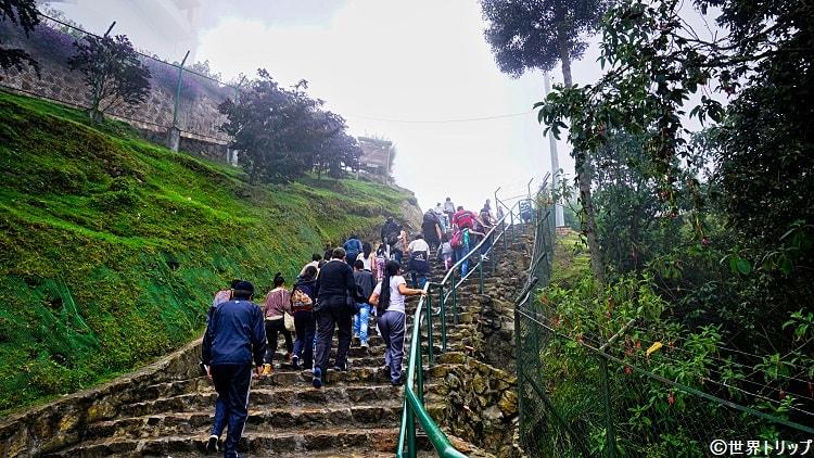 モンセラーテの丘の登山道(最終地点)