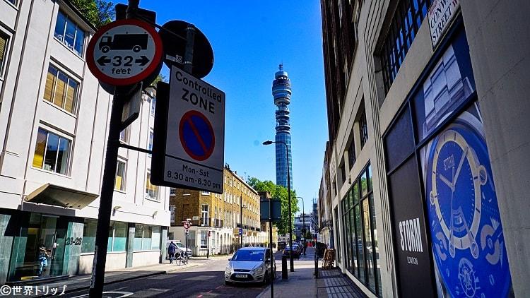 コンウェイ・ストリートから撮影したBT Tower