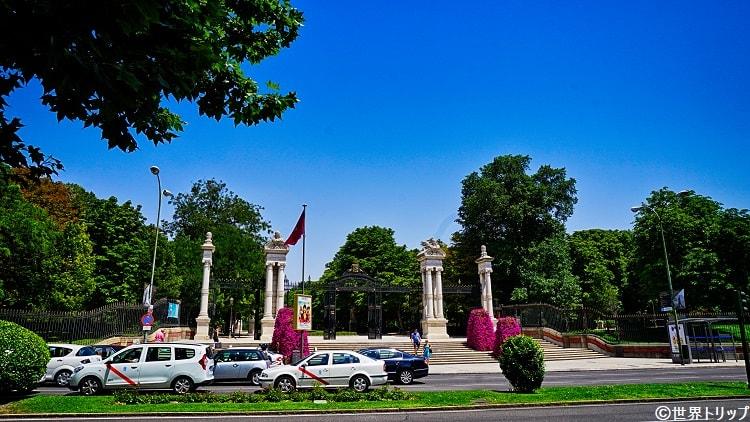 レティーロ公園の入口