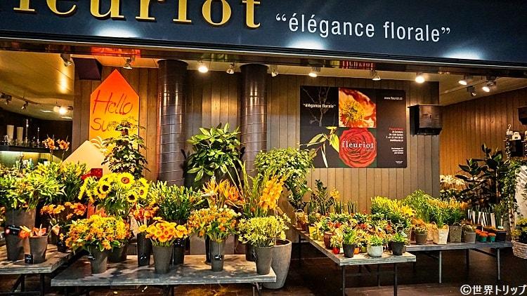 ジュネーヴ国際空港内内の花屋さん
