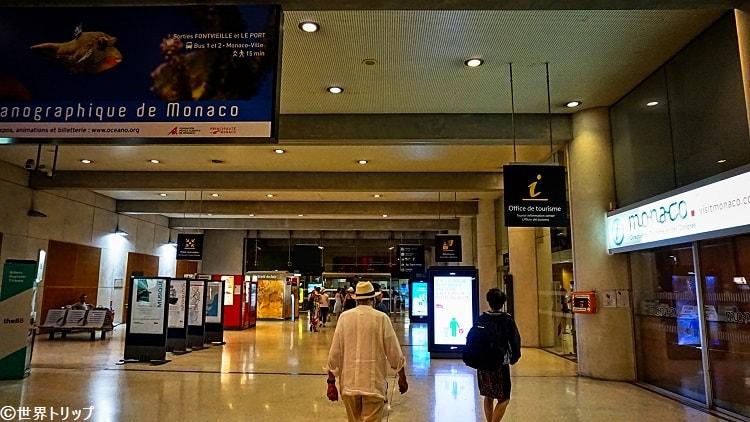 モナコのモンテカルロ駅(Gare de Monaco)構内