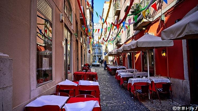 雰囲気のあるリスボンのレストラン