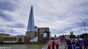 ロンドン・ブリッジから見たザ・シャード(The Shard)