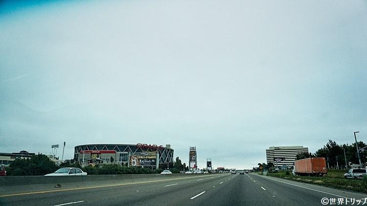 オークランドのオラクル・アリーナ(Oracle Arena)周辺