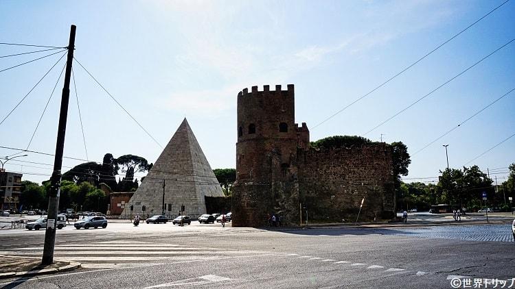 チェスティアのピラミッド(Piramide di Caio Cestio)
