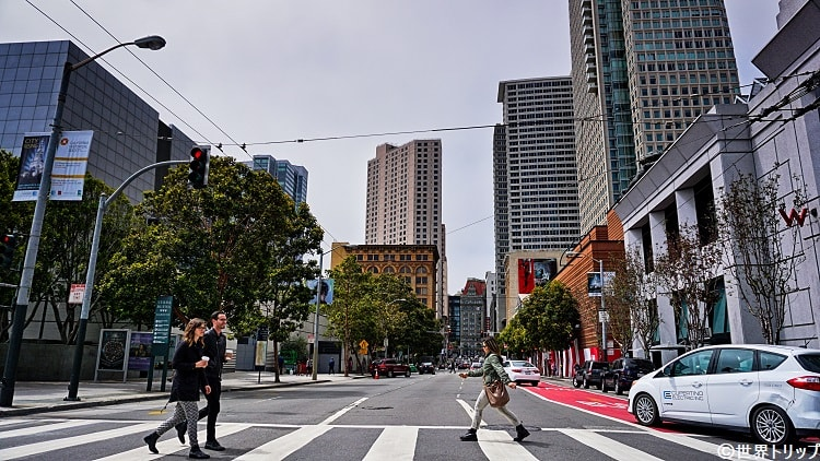 サード・ストリート(3rd Street)の街並み