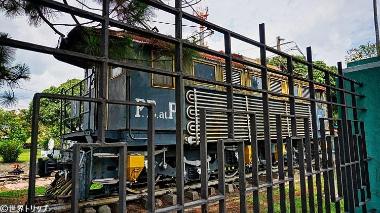 パシフィコ駅に展示?してある歴史を感じる電車