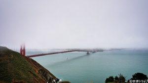 霧で霞むゴールデン・ゲート・ブリッジ