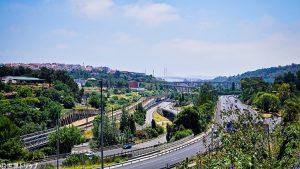 アグアス・リブレス水道橋付近の景色