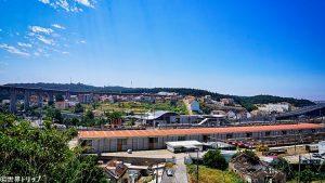 カンポリデ(Campolide)駅付近の景色
