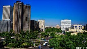 エスタディオ・サンティアゴ・ベルナベウから見た景色