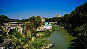 パラティーノ橋から撮影したテベレ川