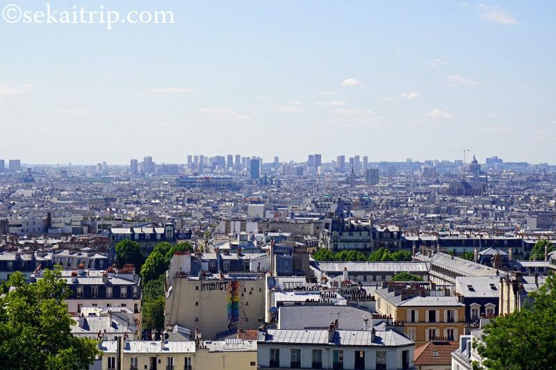 モンマルトルの丘から見たパリの景色
