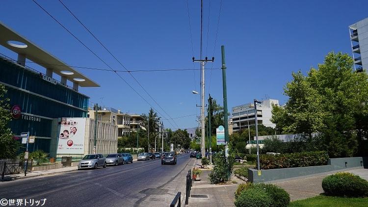 アテネの日本大使館付近