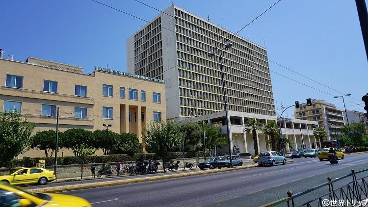 ギリシャ警察アッティカ本部付近