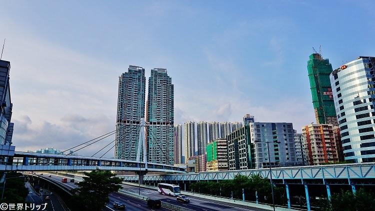 奧海城一期付近の歩道橋から撮影
