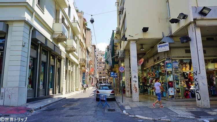 オモニア周辺(Anaxagora通り)