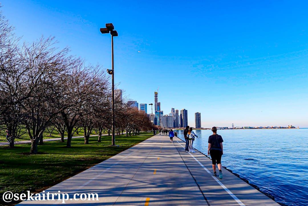 シカゴのレイクフロント・トレイル(Lakefront Trail)