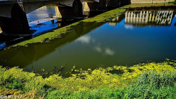 アルノ川の水の色