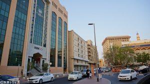 ドバイの金融街(アル・グバイバ駅近く)