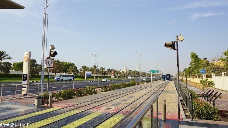 アル・スフォアウ駅(トラム)から撮影
