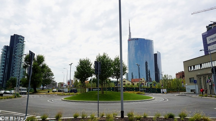 「Palazzo Lombardia」付近から撮影