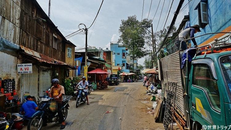 Hùng Vươngから伸びる路地