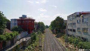 イスタンブールの線路道