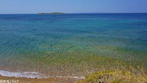 トラム終点「Askllipiio Voulas」付近の海
