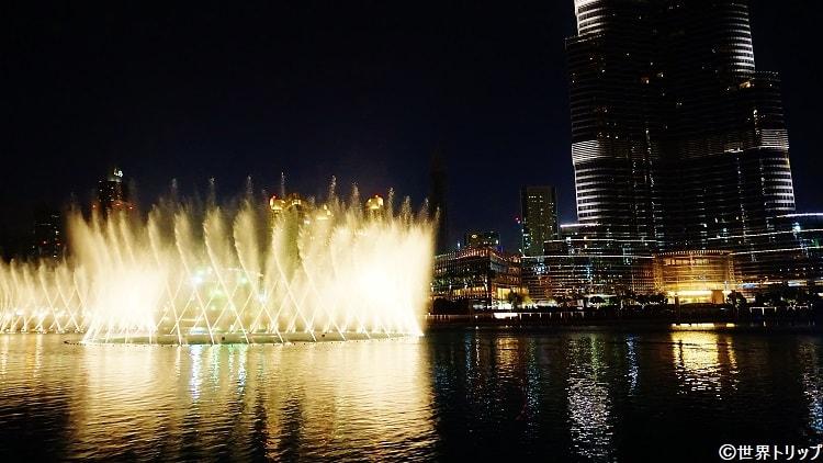 ドバイ・ファウンテン(The Dubai Fountain)のショー