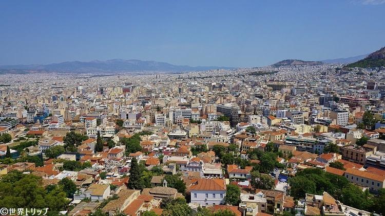 アテナイのアクロポリスからの眺め