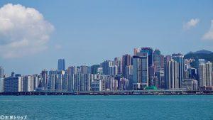 香港島側の景色