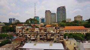 ホテルからサイゴン大教会側を撮影