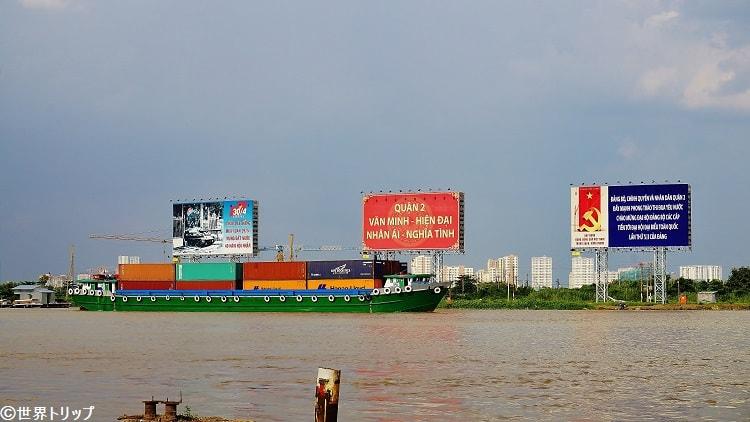 サイゴン川の景色