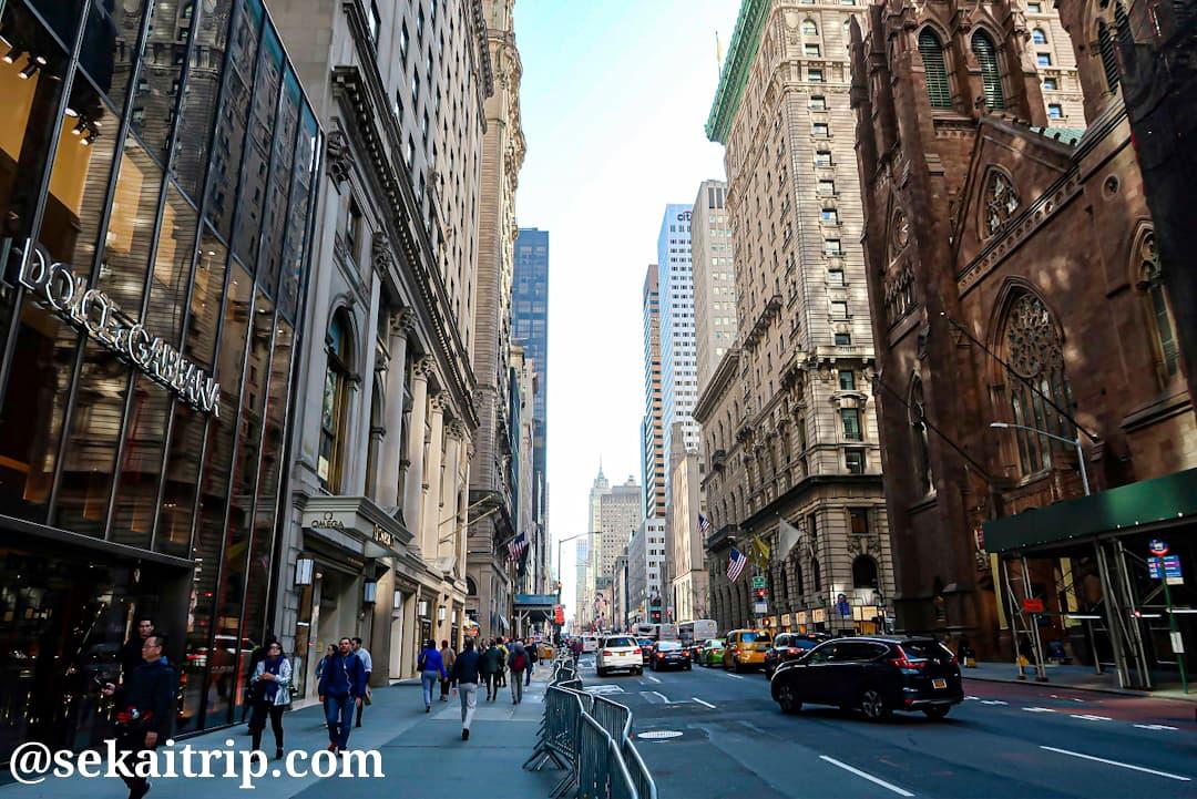 ニューヨークの五番街