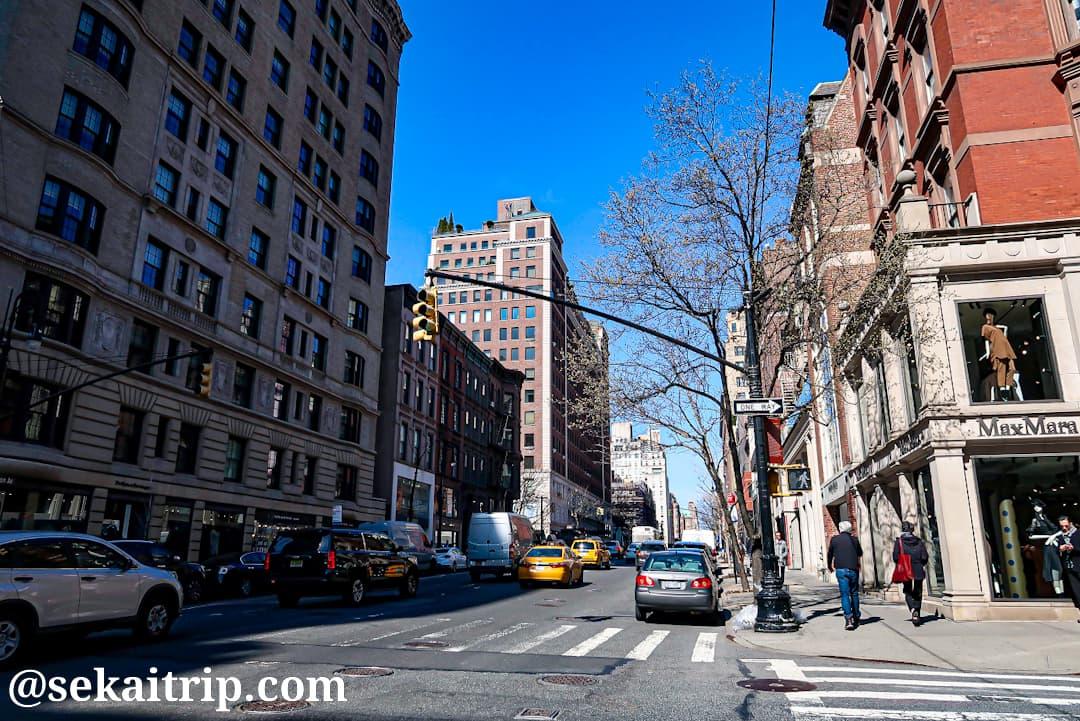 ニューヨークのマディソン・アベニュー(Madison Avenue)
