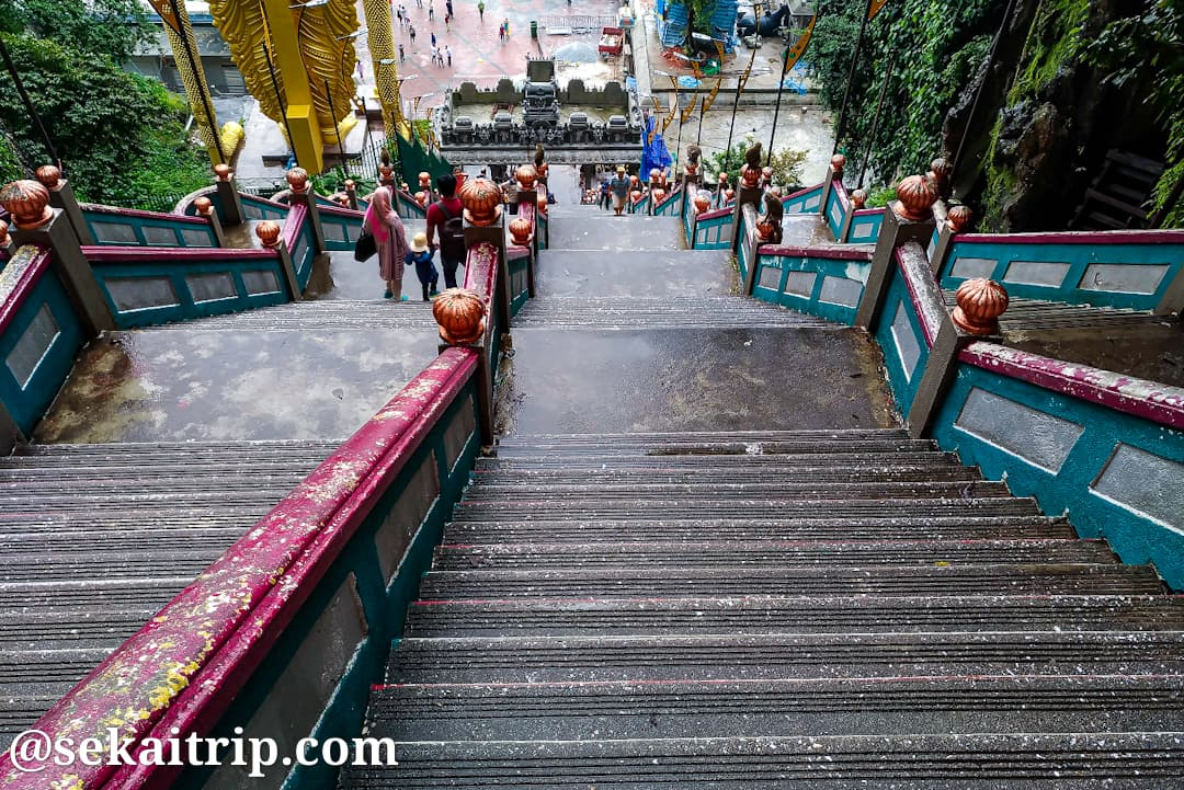 バトゥ洞窟の階段