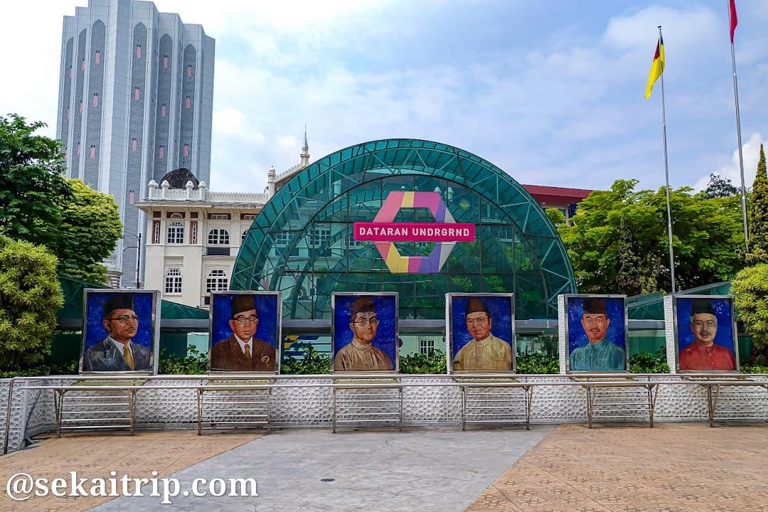 ムルデカ・スクエア(独立広場)の歴代首相の肖像画