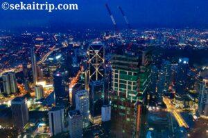 ペトロナスツインタワーから見た夜景