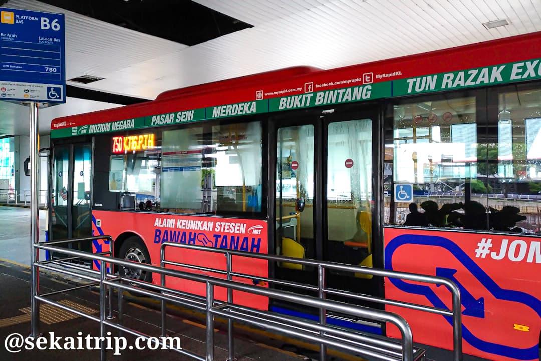 シャー・アラム(Shah Alam)行きのバス