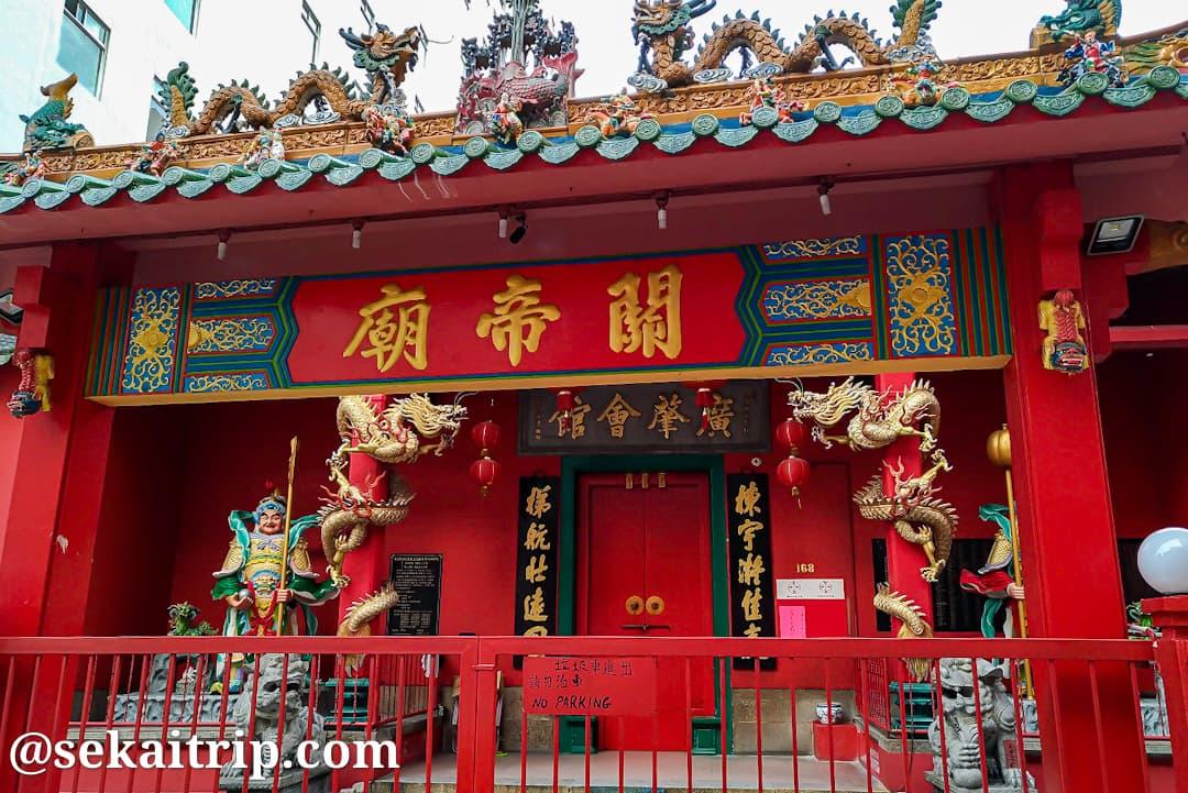 クアラルンプールの関帝廟の入口