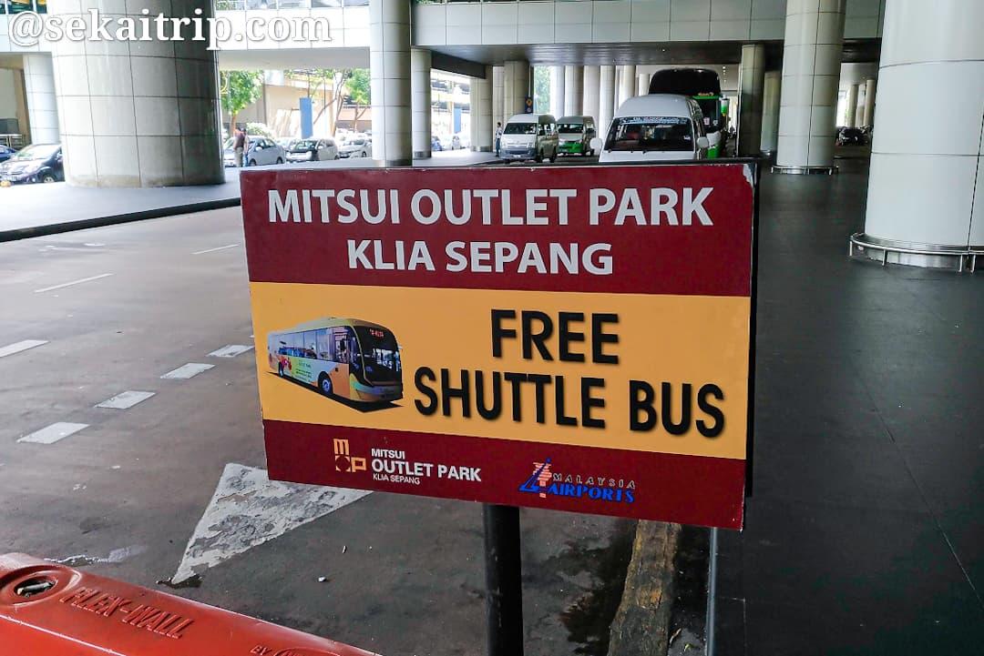 三井アウトレットパーク(KL)のシャトルバス乗り場