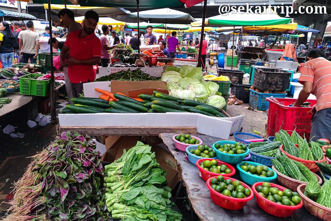 プドゥ・ウェット・マーケットで売られていた野菜