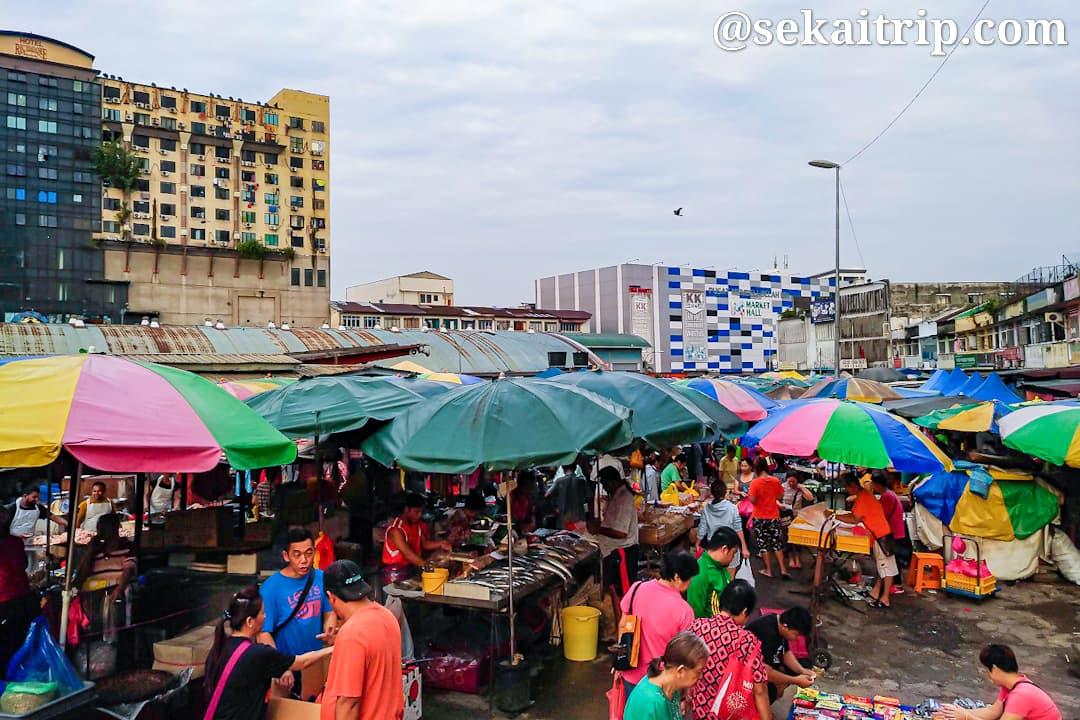 高めから撮影したプドゥ・ウェット・マーケット(Pudu Wet Market)