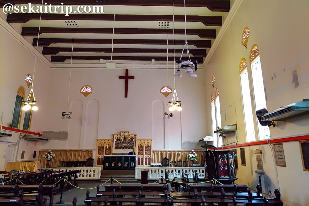 マラッカ・キリスト教会の内部