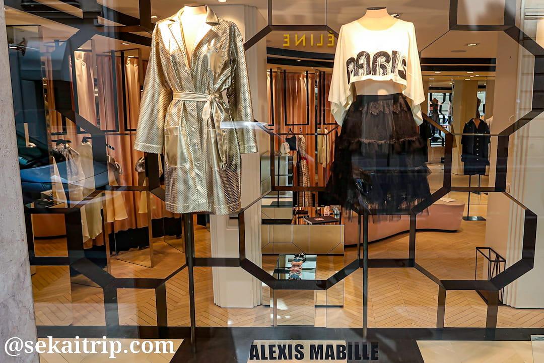 アレクシ・マビーユ(ALEXIS MABILLE)本店のディスプレイ